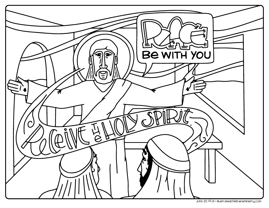 Coloring pages for john 9 -  Bible Story Coloring Pages Spring 2018