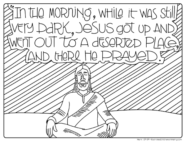 mark 8 coloring pages | Bible Story Coloring Pages: Winter 2017-2018 – Illustrated ...