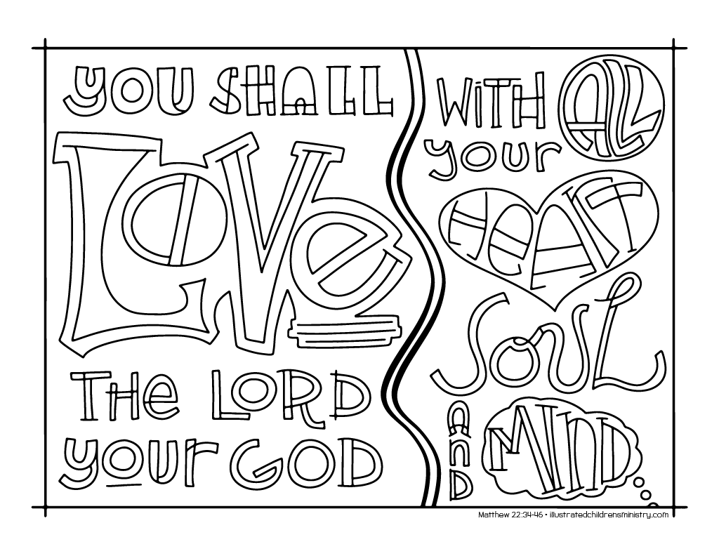 Coloring pages psalm 33 -  Bible Story Coloring Pages Fall 2017