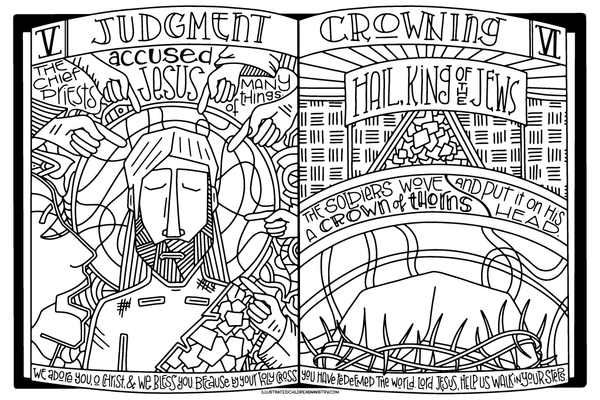 Stations of the Cross Coloring Posters