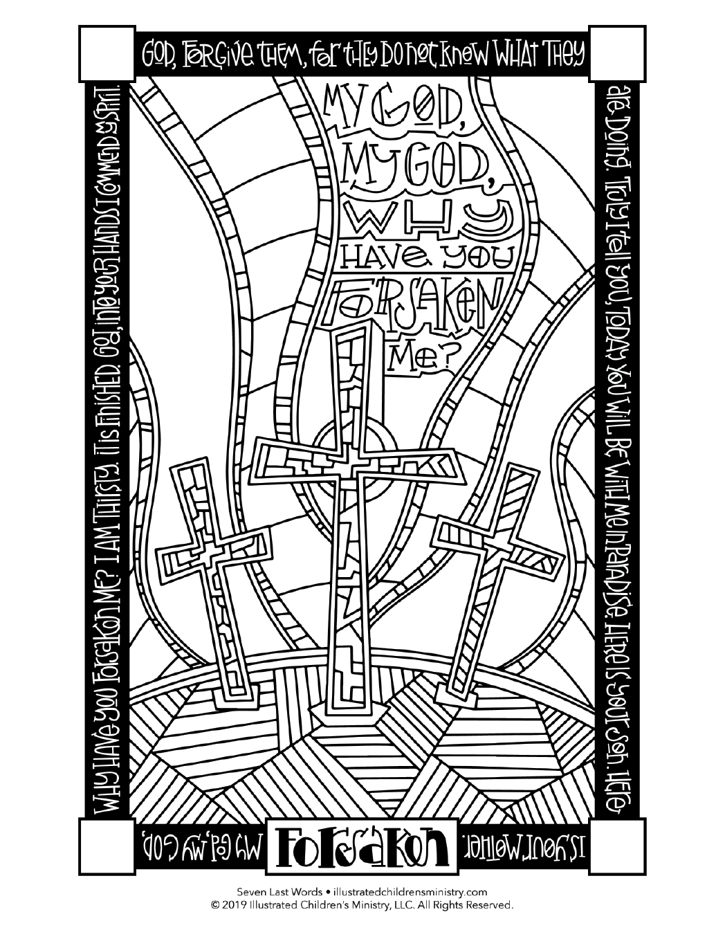 Seven Last Words coloring page - Forsaken