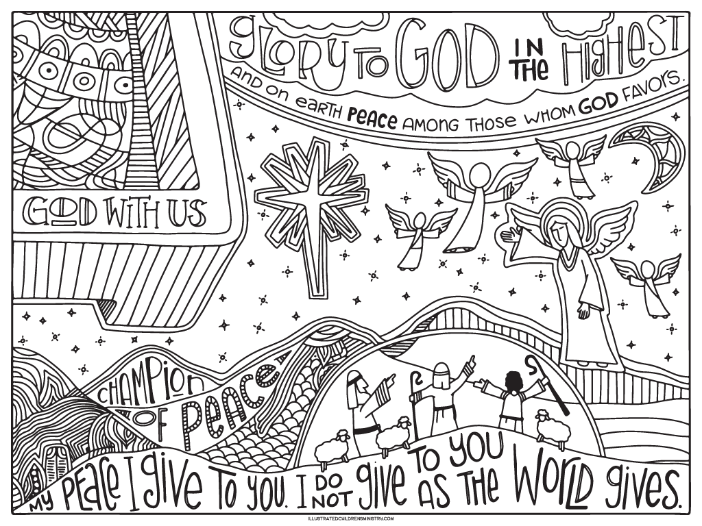 2016 Advent Coloring Pages