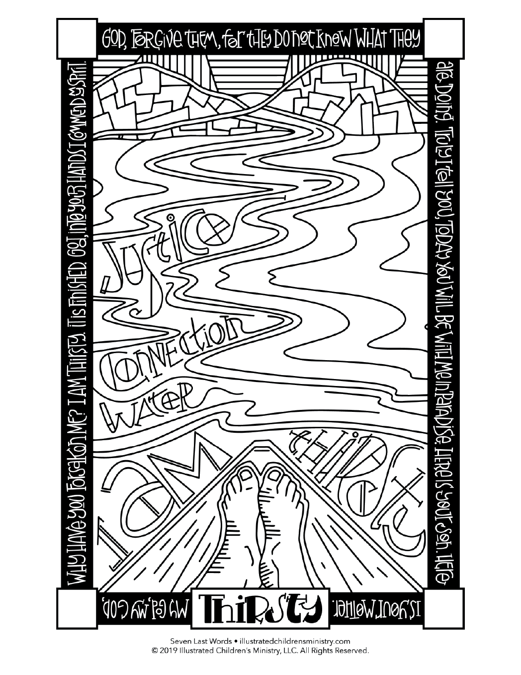 Seven Last Words coloring page - Thirsty