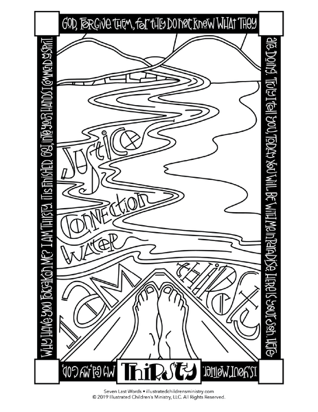 Seven Last Words Coloring Pages