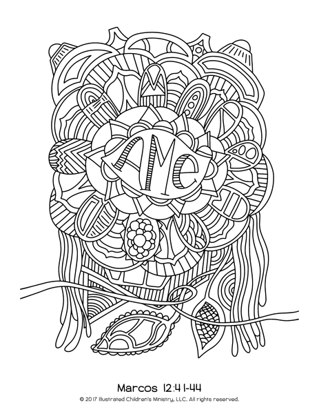 Lenten Coloring Pages - 8.5x11 (2016) - Spanish-language Version