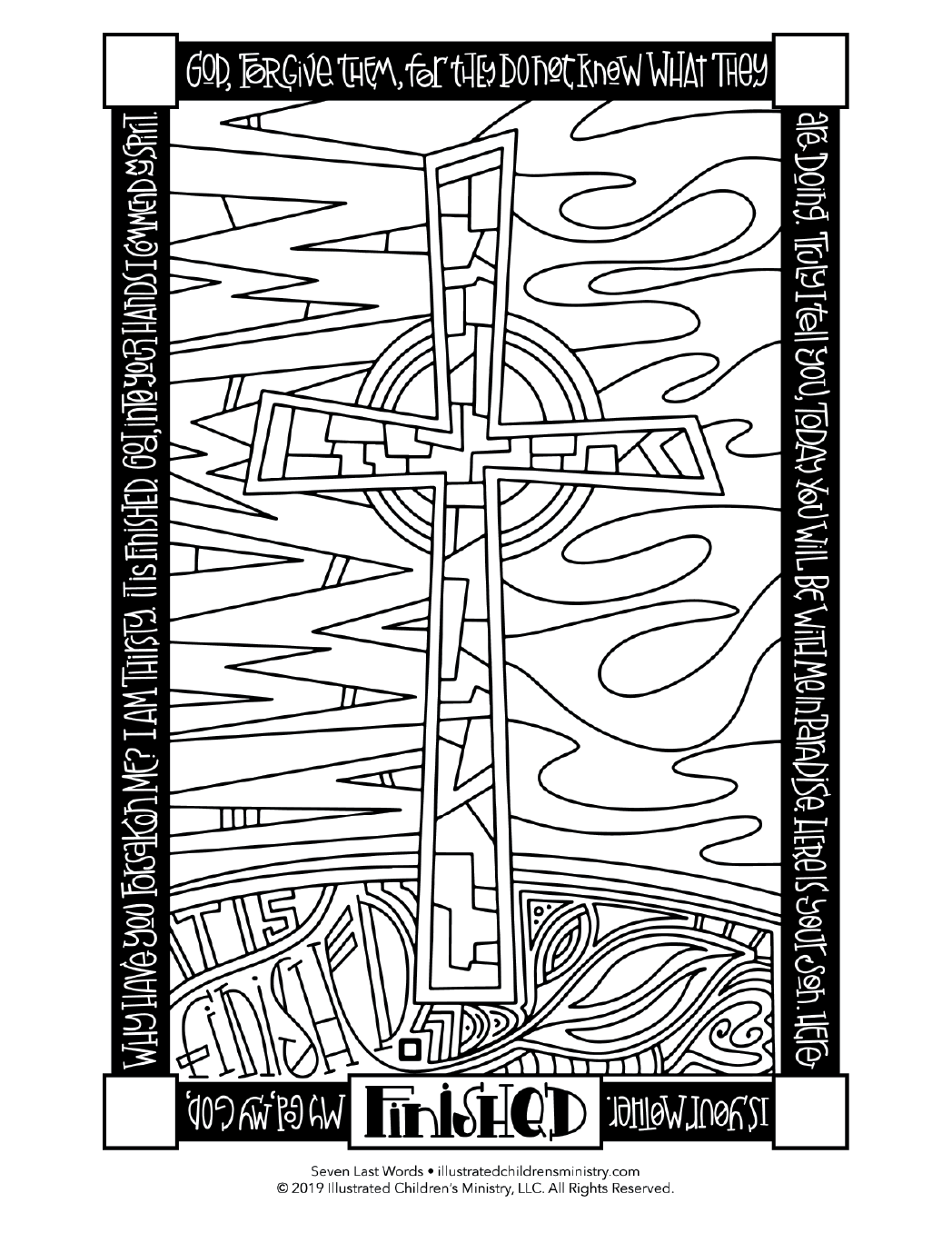 Seven Last Words coloring page - Finished