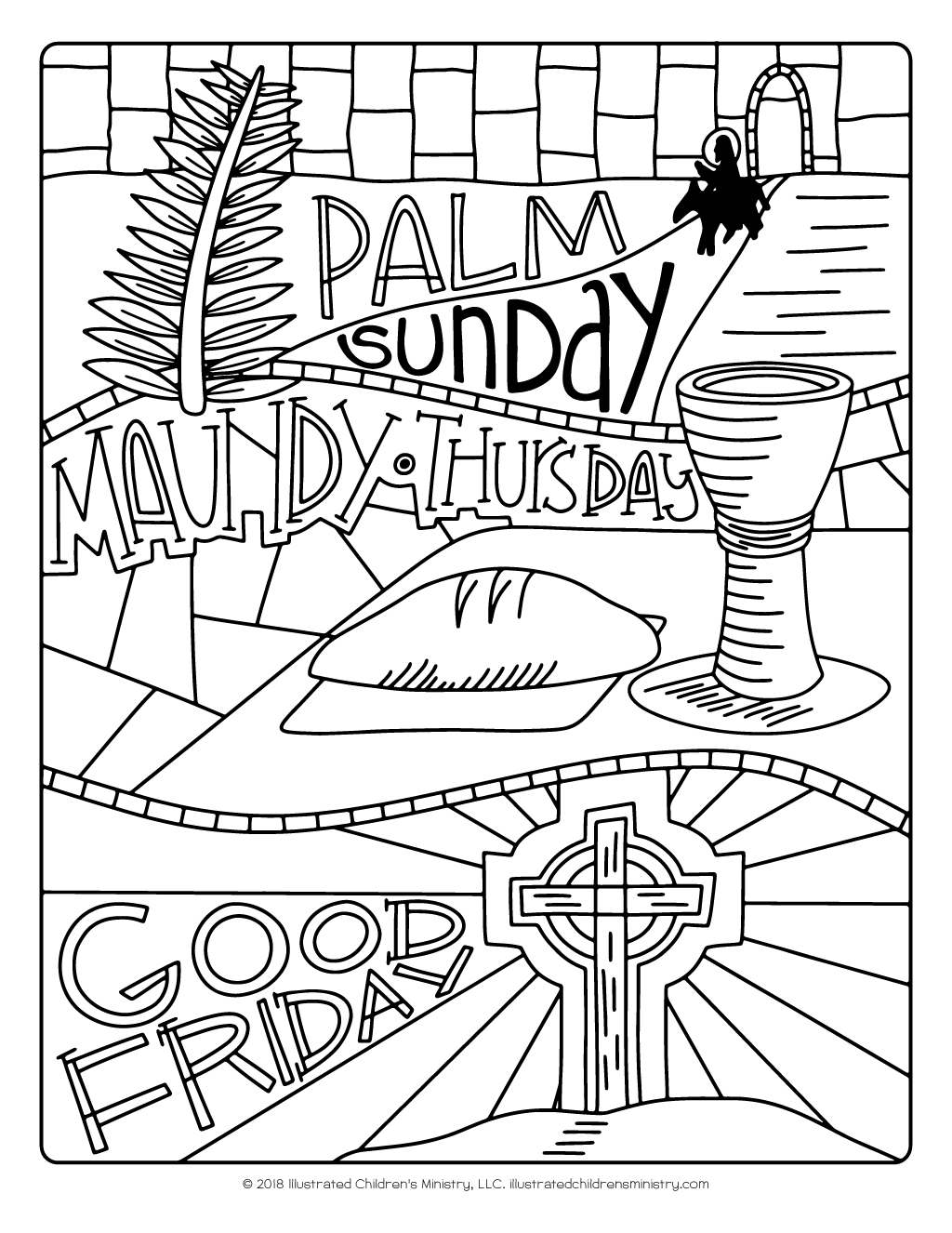 An Illustrated Lent for Families devotional guide coloring page