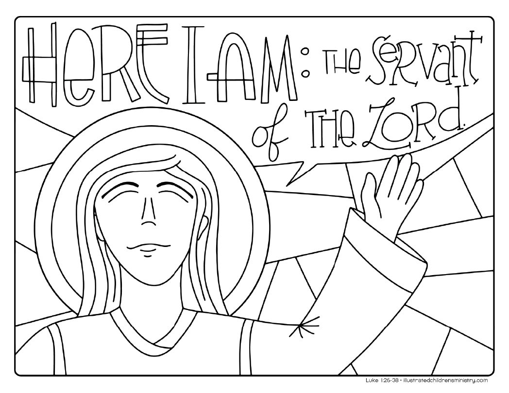 """Servant of the Lord"" coloring page"