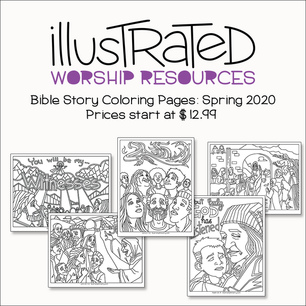 - Bible Story Coloring Pages: Spring 2020 - Illustrated Ministry