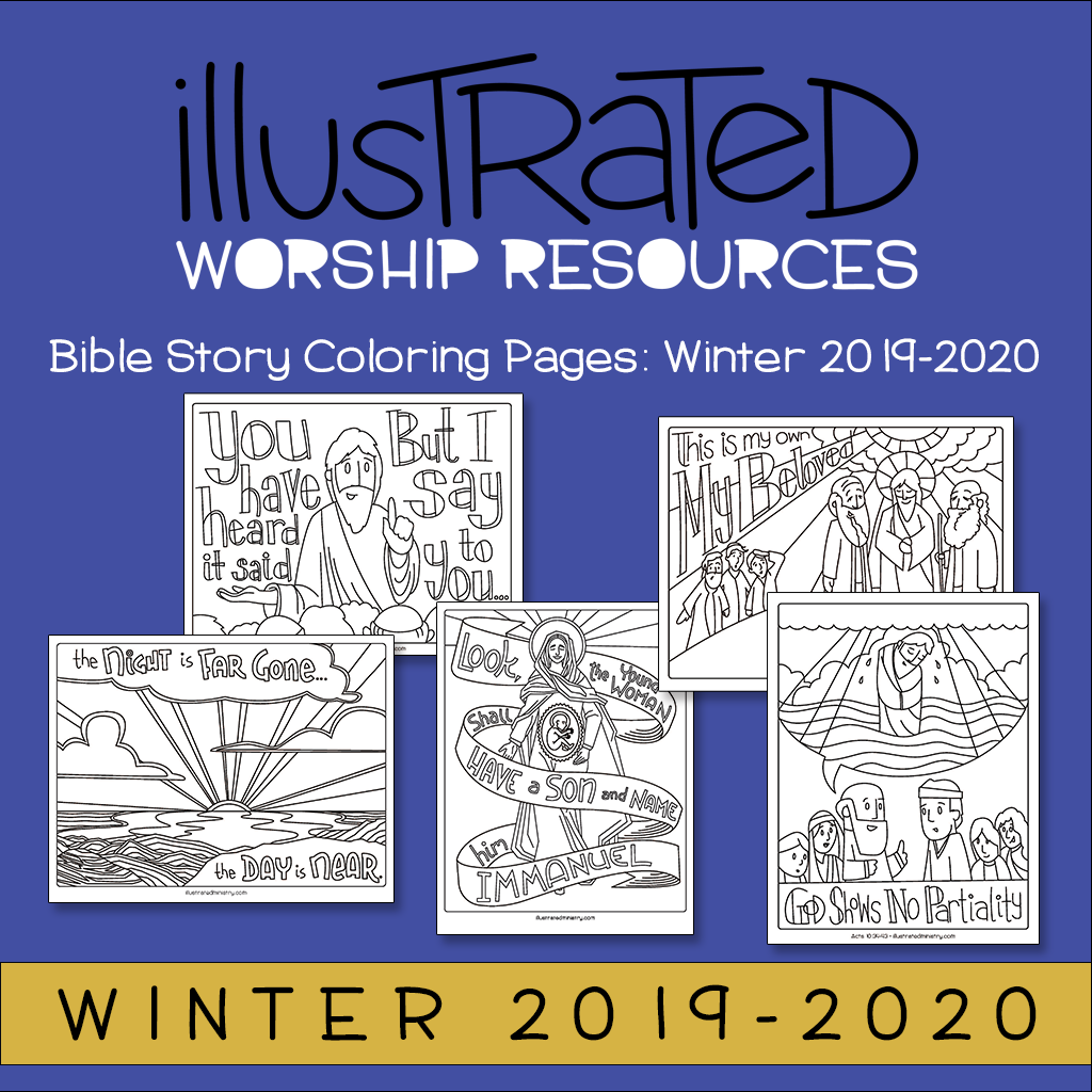 Bible Story Coloring Pages: Winter 2019-2020