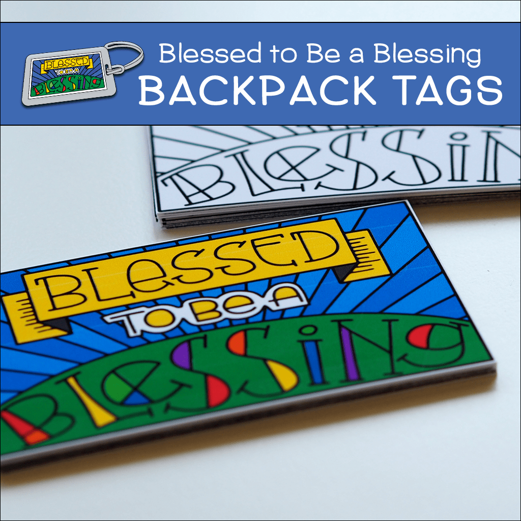 Blessed to be a Blessing Backpack Tags