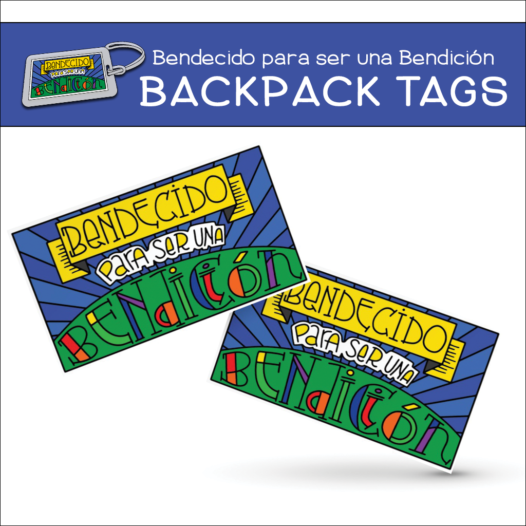 """Bendecido Para Ser Una Bendición"" Backpack Tags"