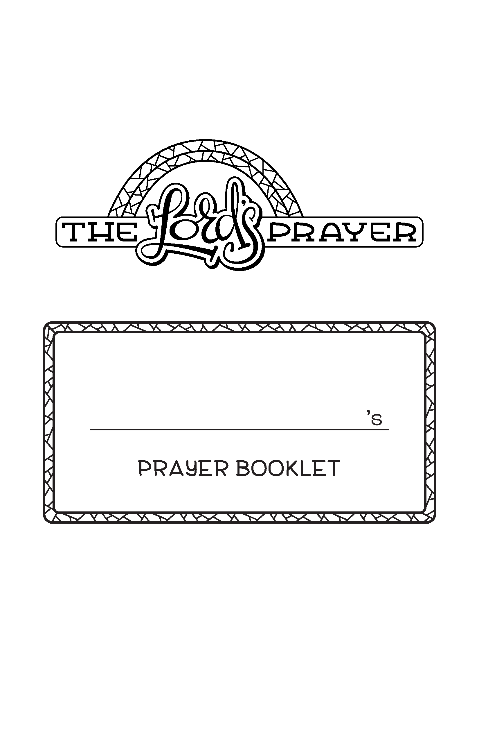 The Lord's Prayer prayer booklet
