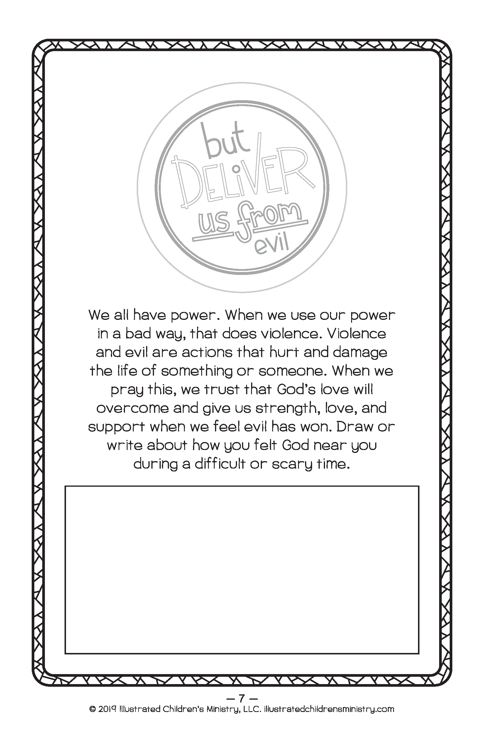 Children's prayer booklet