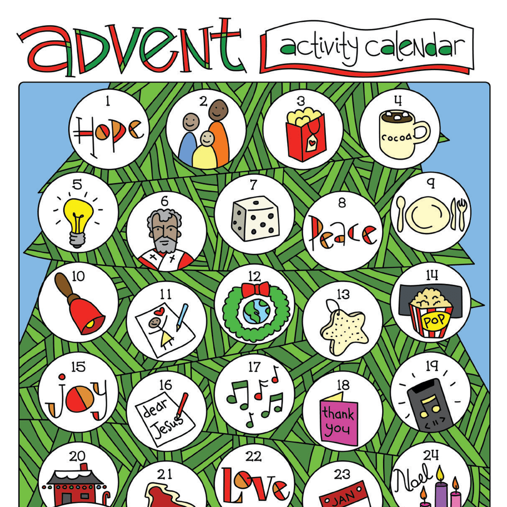 An Illustrated Advent for Families: Preparing the Way Advent Calendar