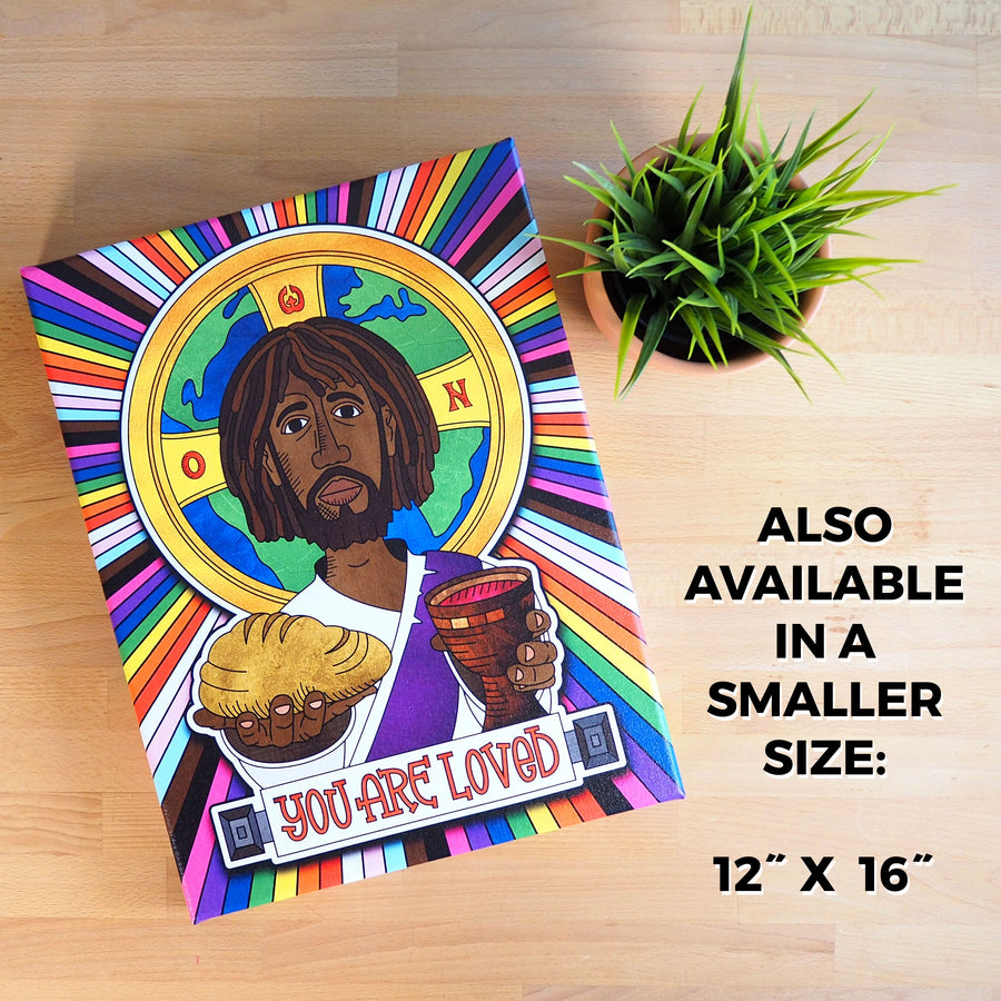 """You Are Loved"" Jesus Canvas Print"