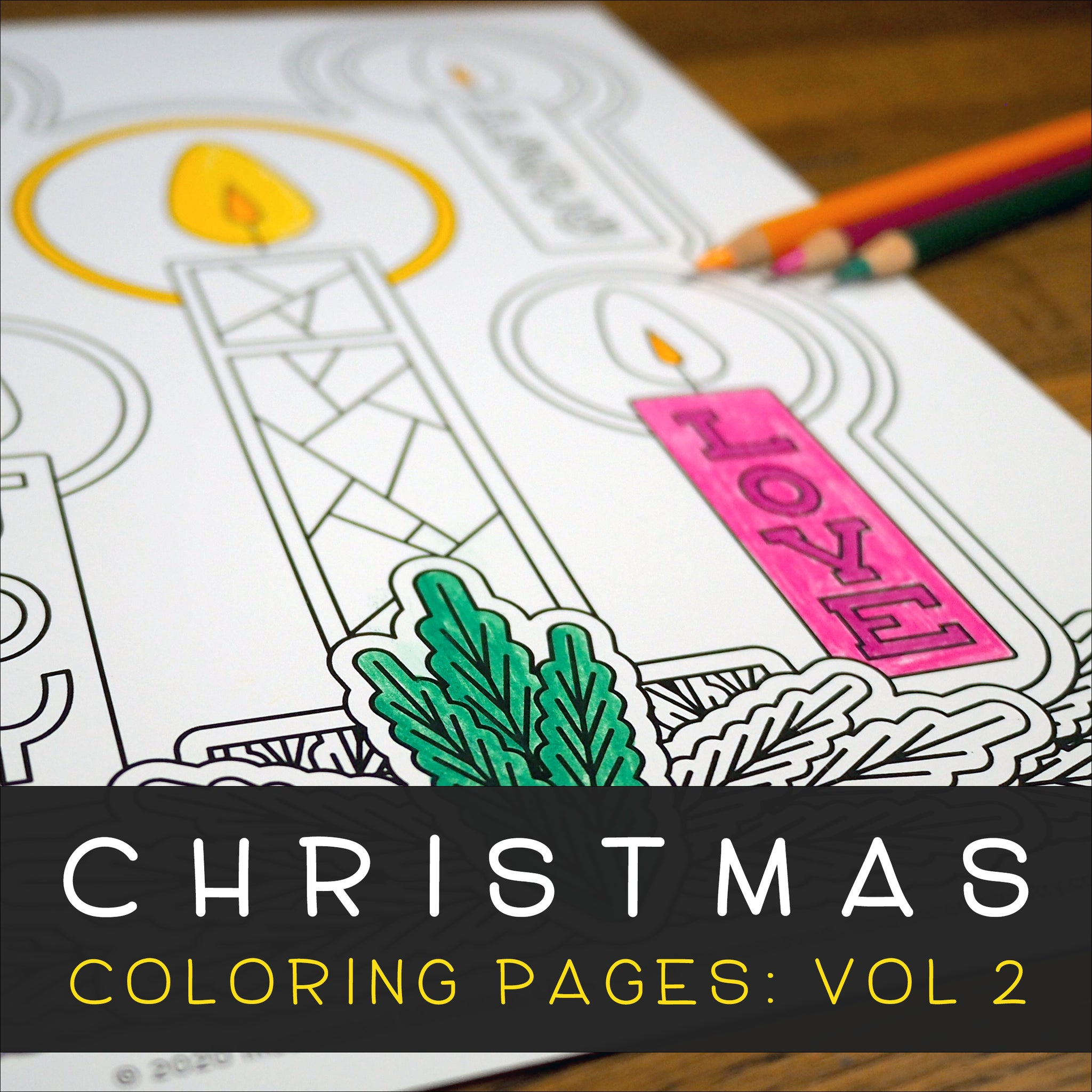 Christmas Coloring Pages: Volume 2