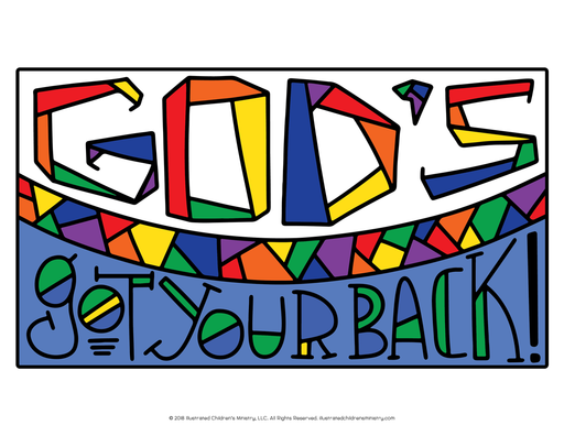 God's Got Your Back Coloring Page