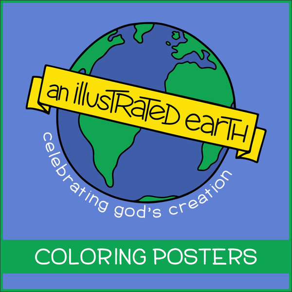 Illustrated Earth Coloring Posters