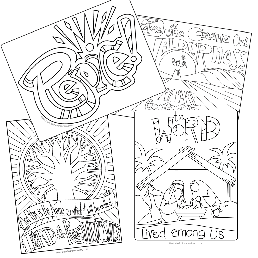 An Illustrated Advent for Families: Preparing the Way Coloring Pages