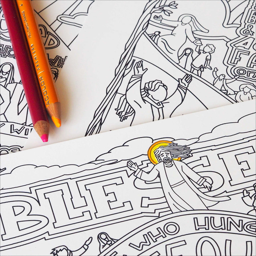 The Beatitudes Coloring Pages