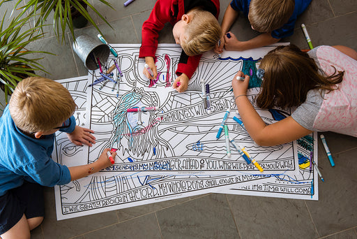 People coloring Advent Journey Coloring Posters