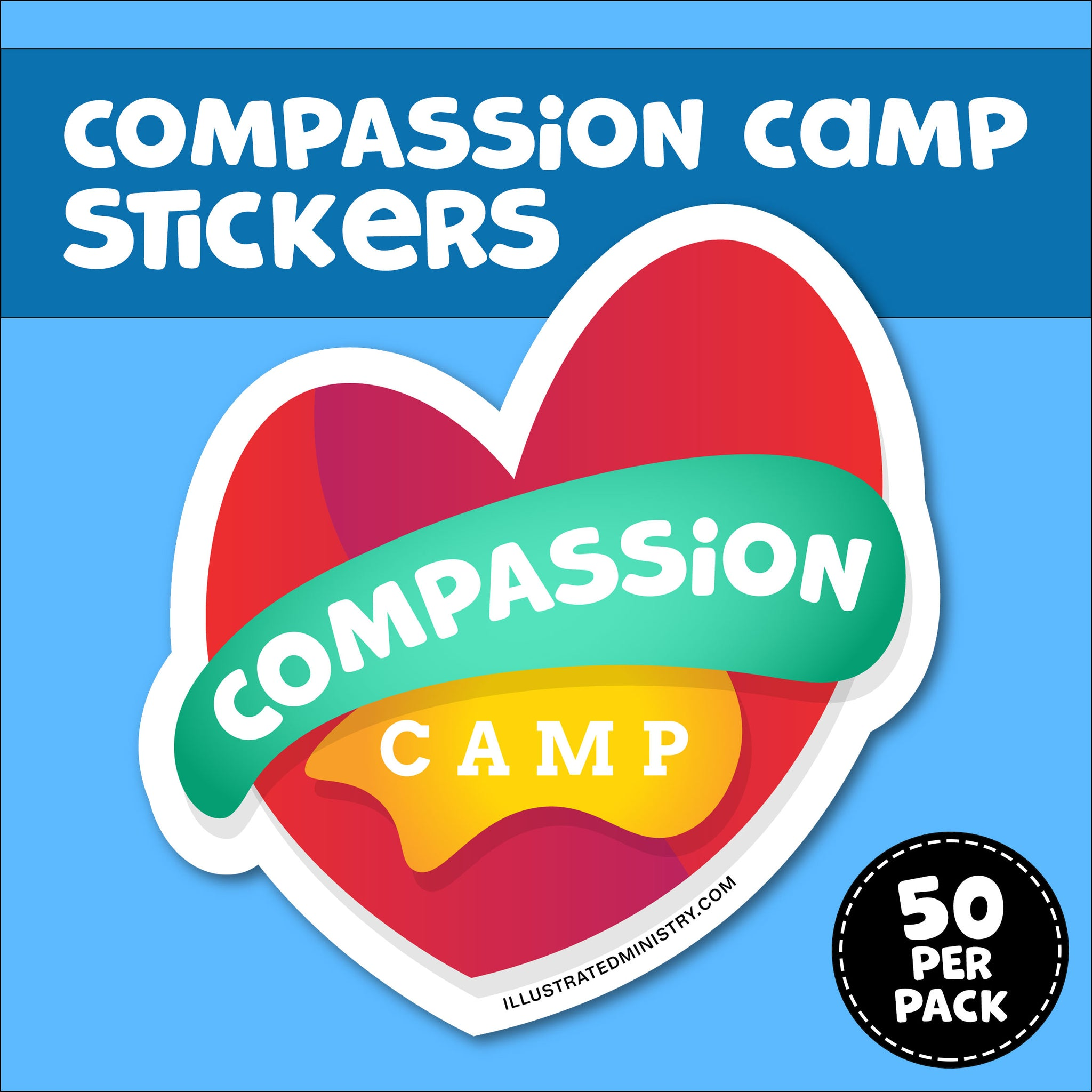 Compassion Camp Stickers