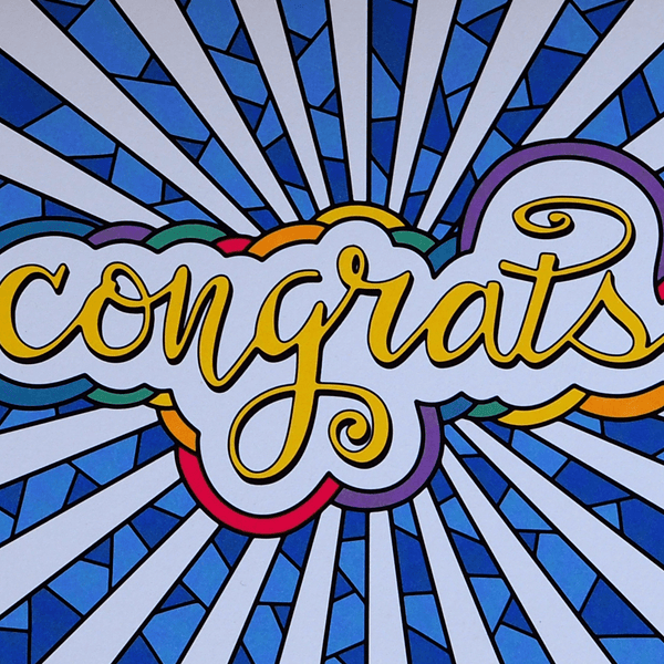 Illustrated Greeting Cards – Congrats Cards