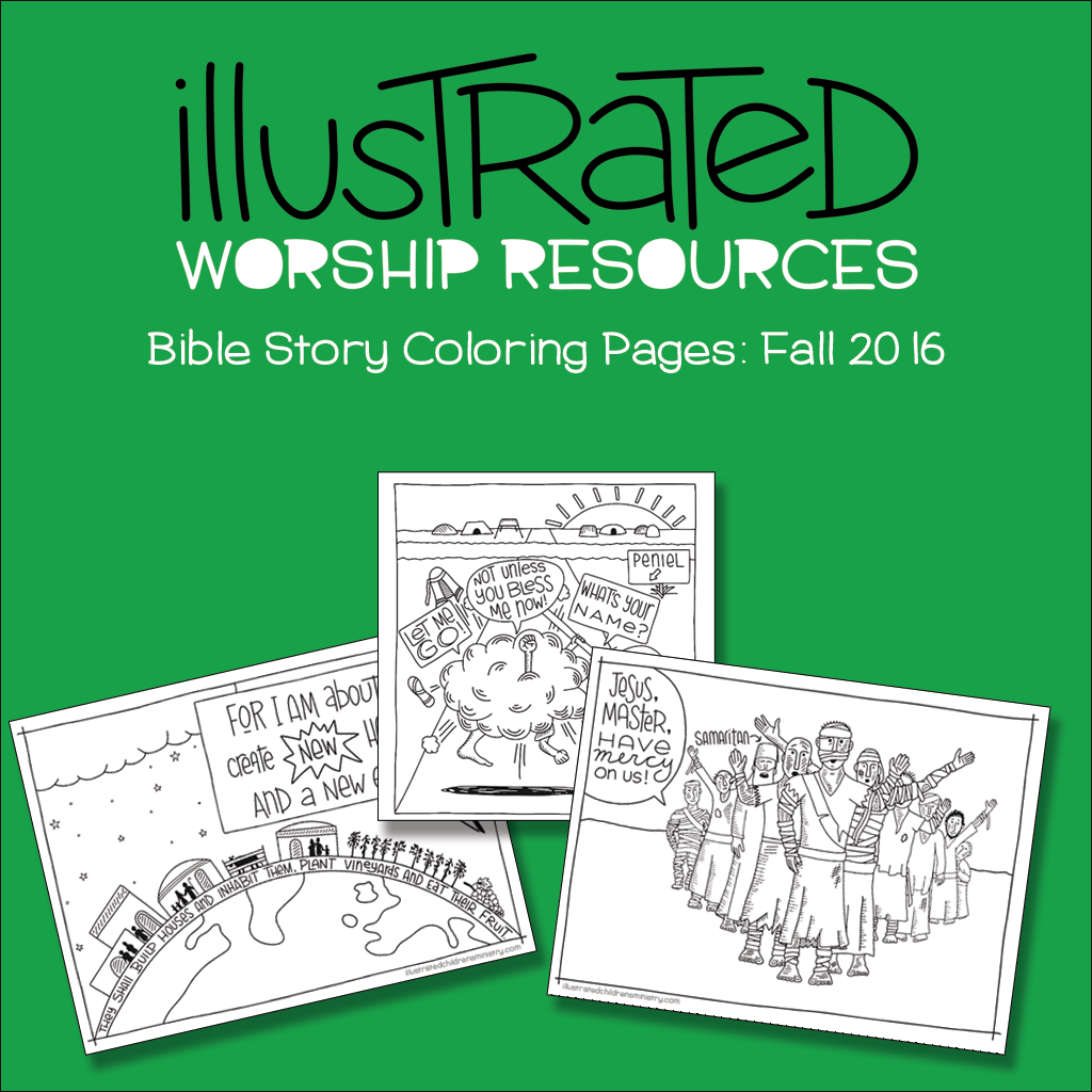 Bible Story Coloring Pages: Fall 2016