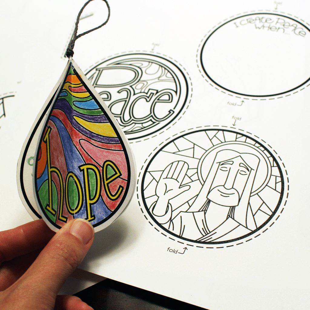 Color-your-own Ornament Set