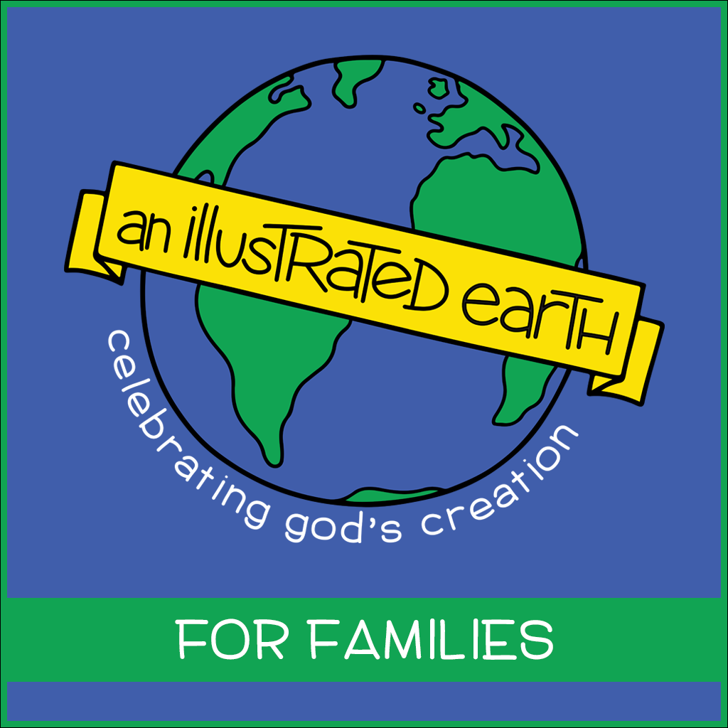 illustrated earth for families  logo