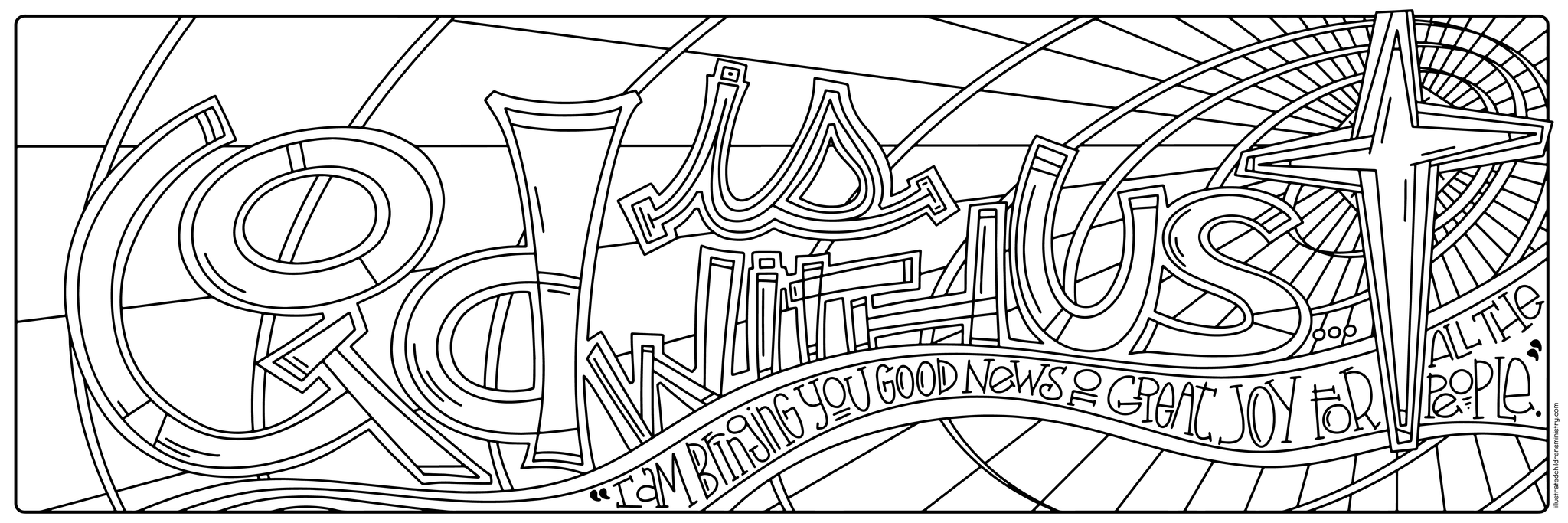 Mary's Song Coloring Page - God is with us