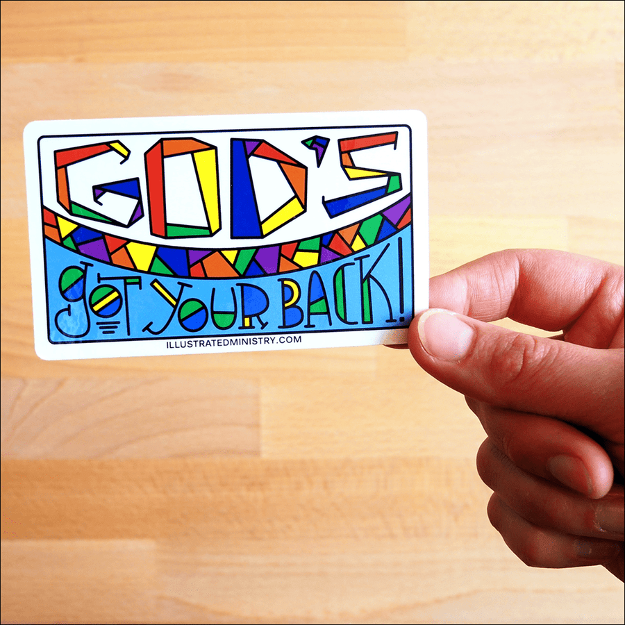 God's Got Your Back Stickers