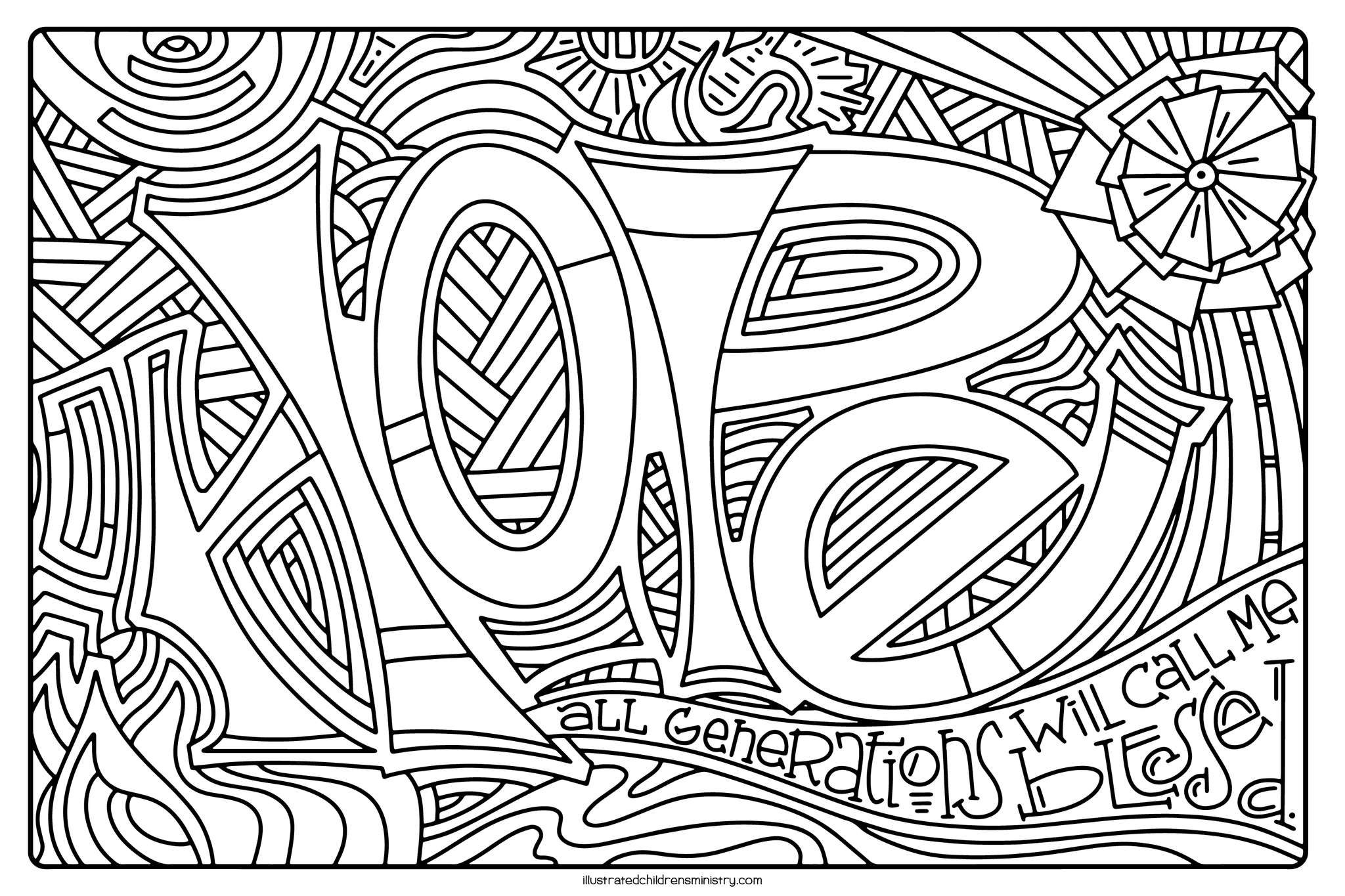 Mary's Song Coloring Page - Hope