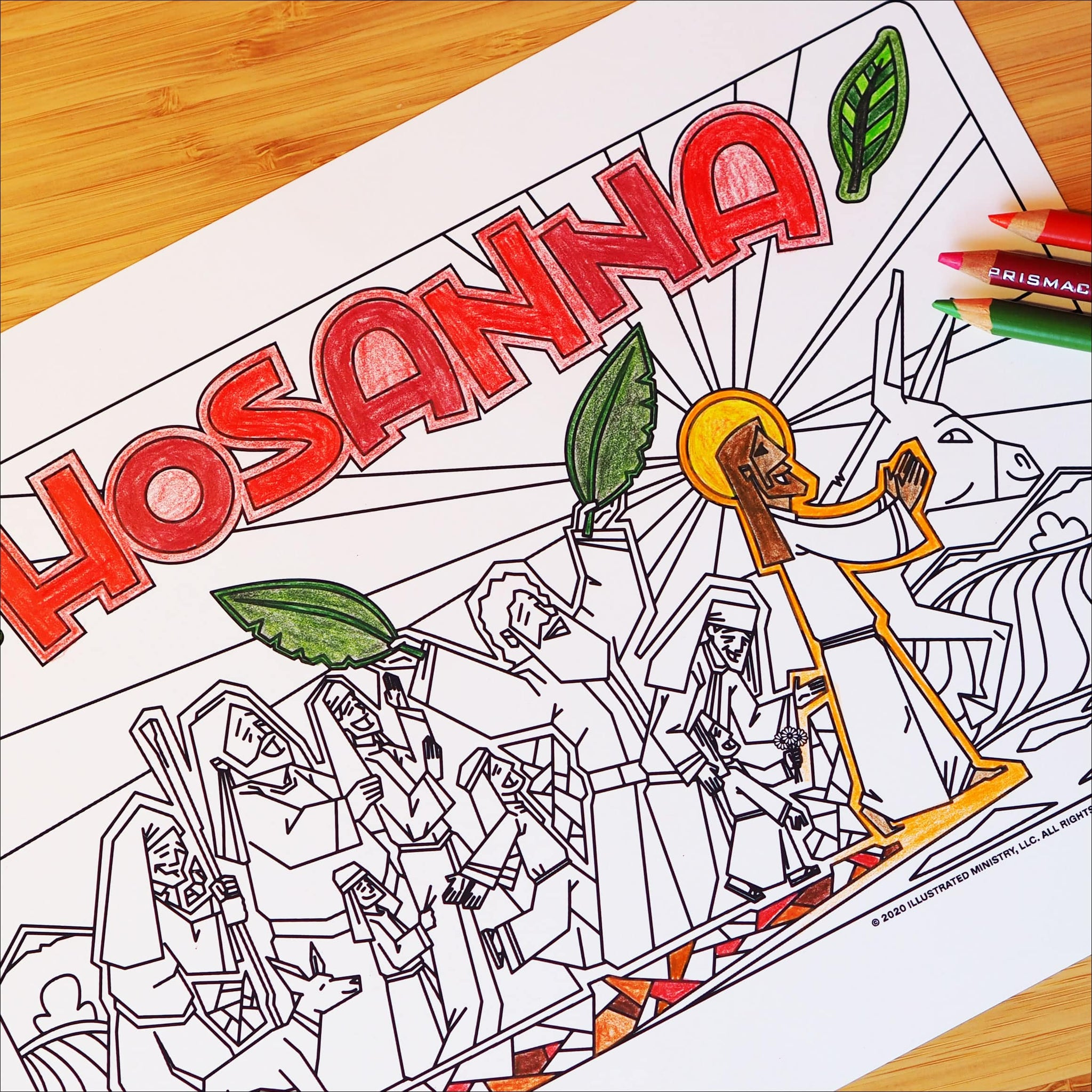Hosanna Coloring Page & Poster