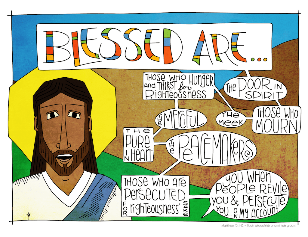 Illustration to accompany children's moment - Blessed are those...