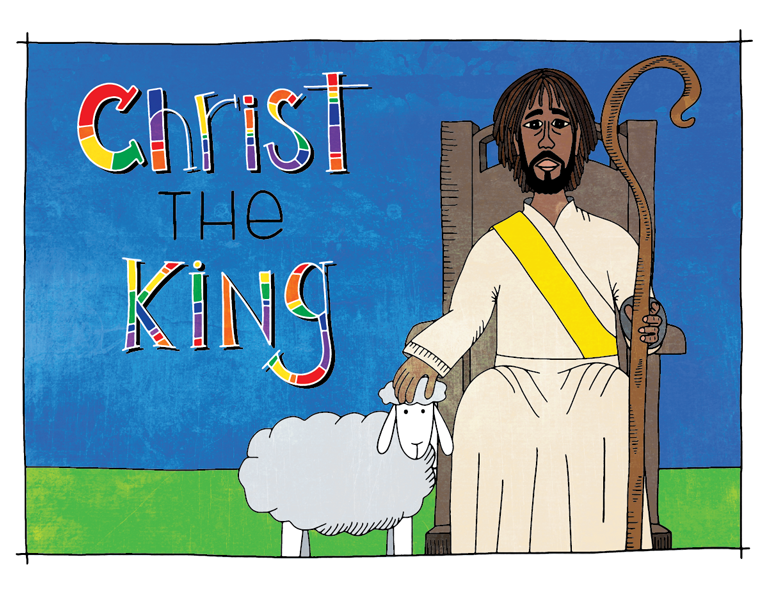 Illustration to accompany children's moment - Christ the King