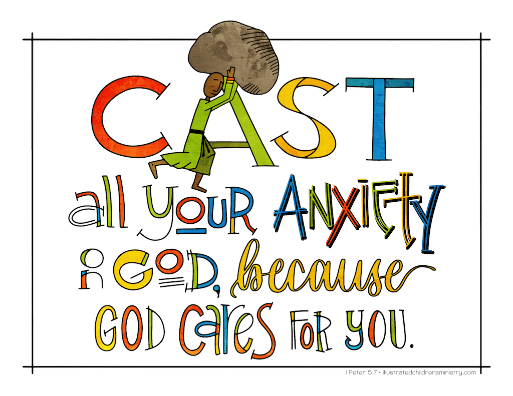 Illustration to accompany children's moment - God cares for you