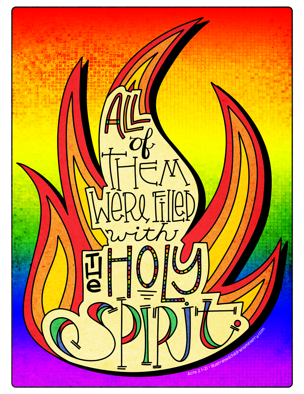 Illustration to accompany children's moment - Holy Spirit