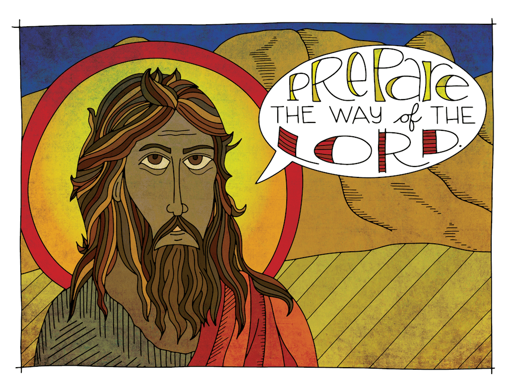 Illustration for Advent children's moment: John the Baptist