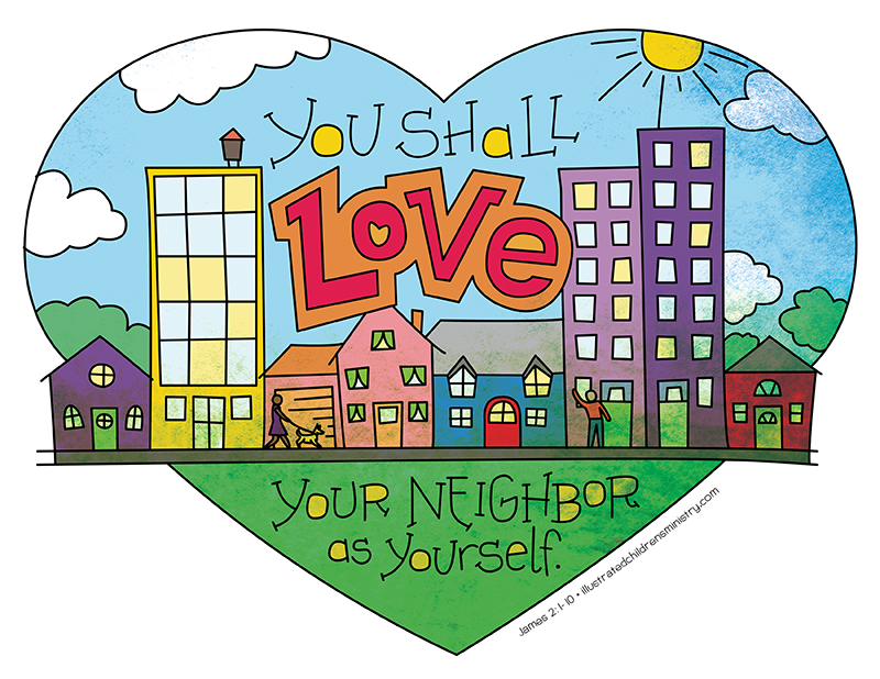 Illustration to accompany children's moment - love your neighbor