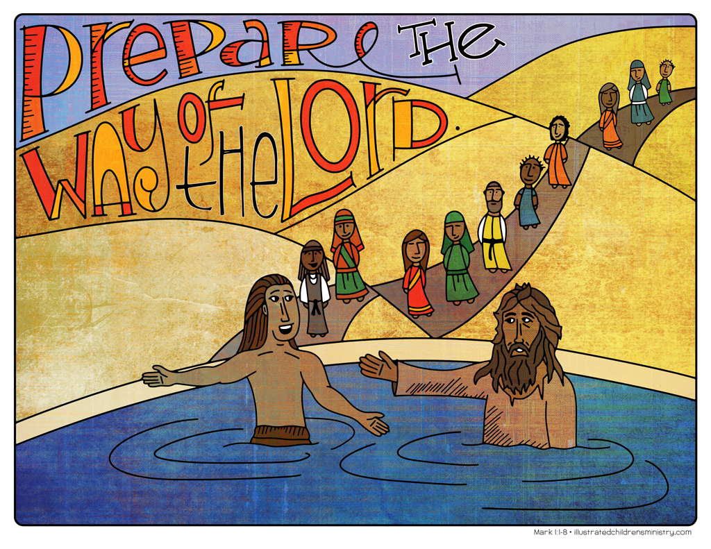 Illustration to accompany Advent children's moment - John the Baptist