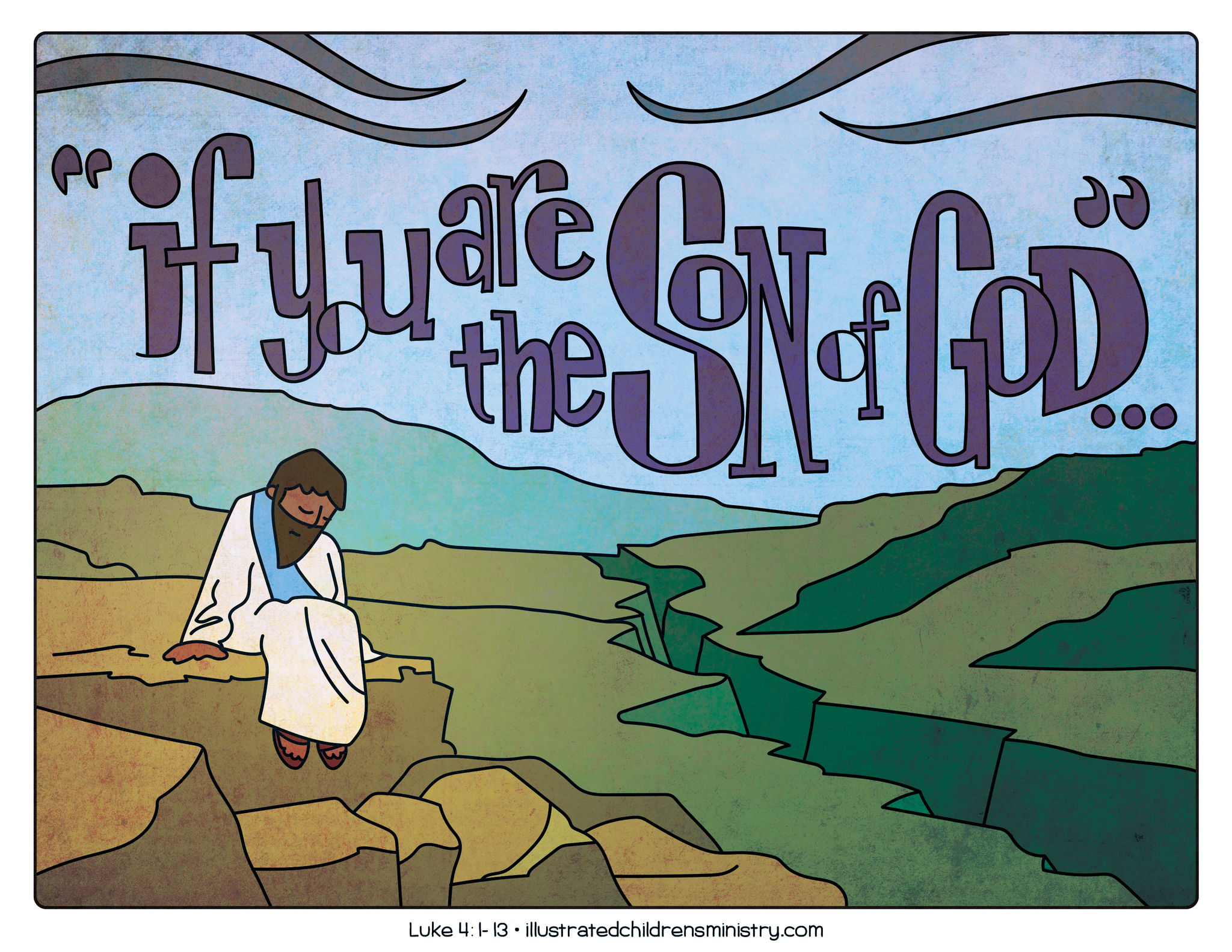 Illustration to accompany children's moment - Jesus in the desert