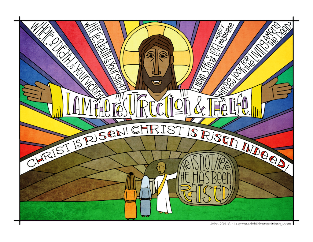 Illustration to accompany children's moment - Jesus' resurrection