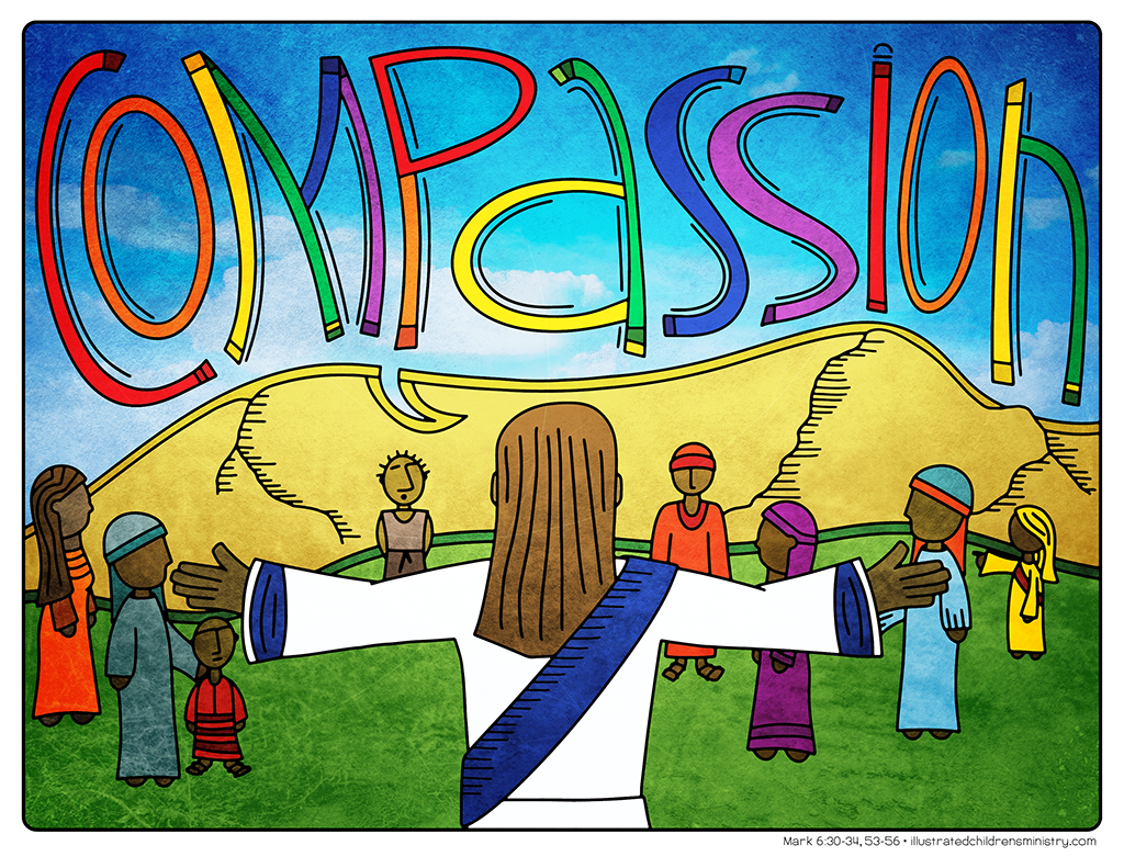 Illustration to accompany children's moment - Compassion