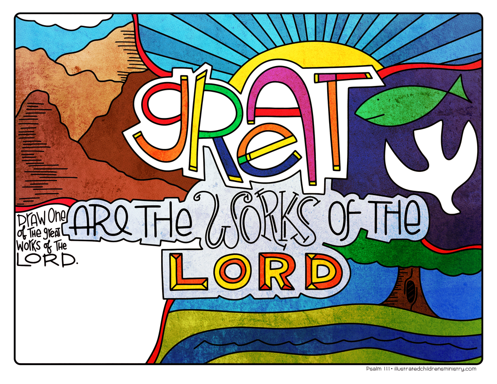 Illustration to accompany children's moment - Great are the ways of the Lord