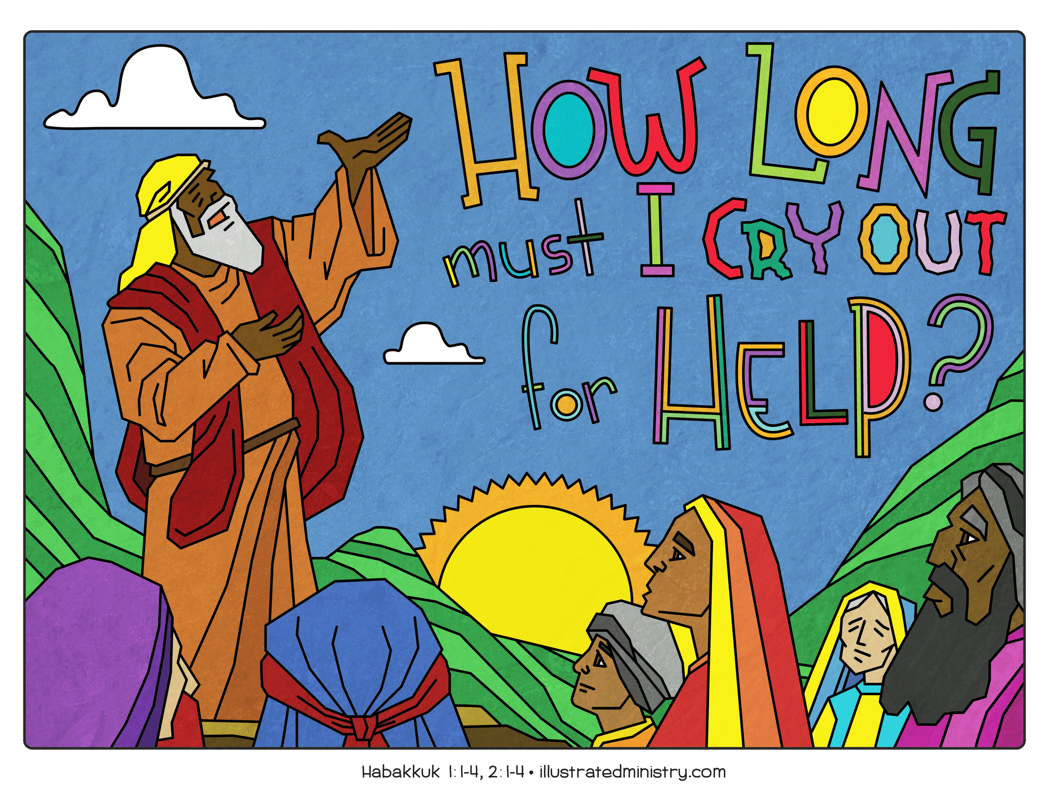 Illustration to accompany children's moment - Habukkuk cry for help