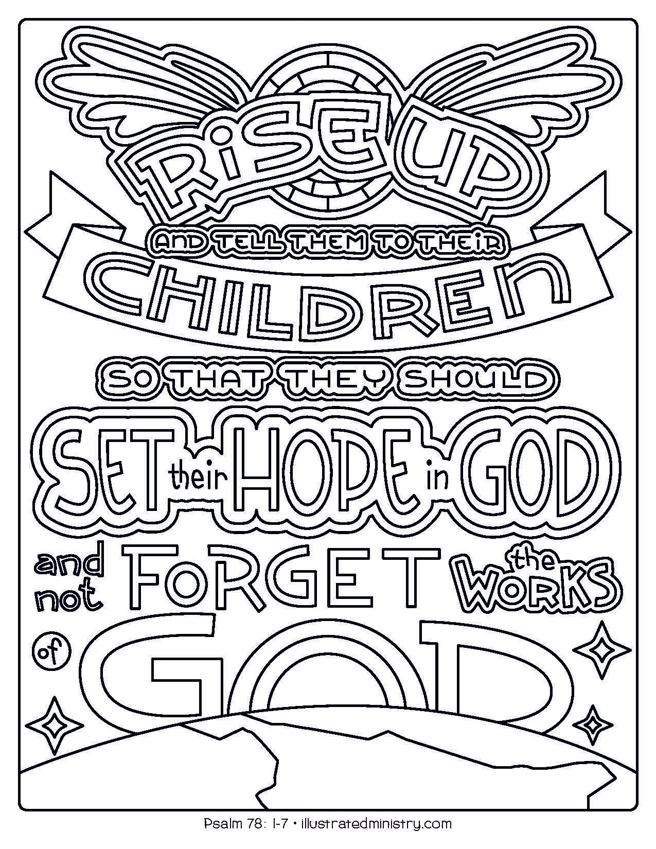 Bible Story Coloring Pages: Fall 2020