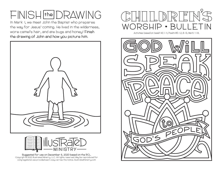 Illustrated Worship Children's Bulletins: Winter 2020-2021