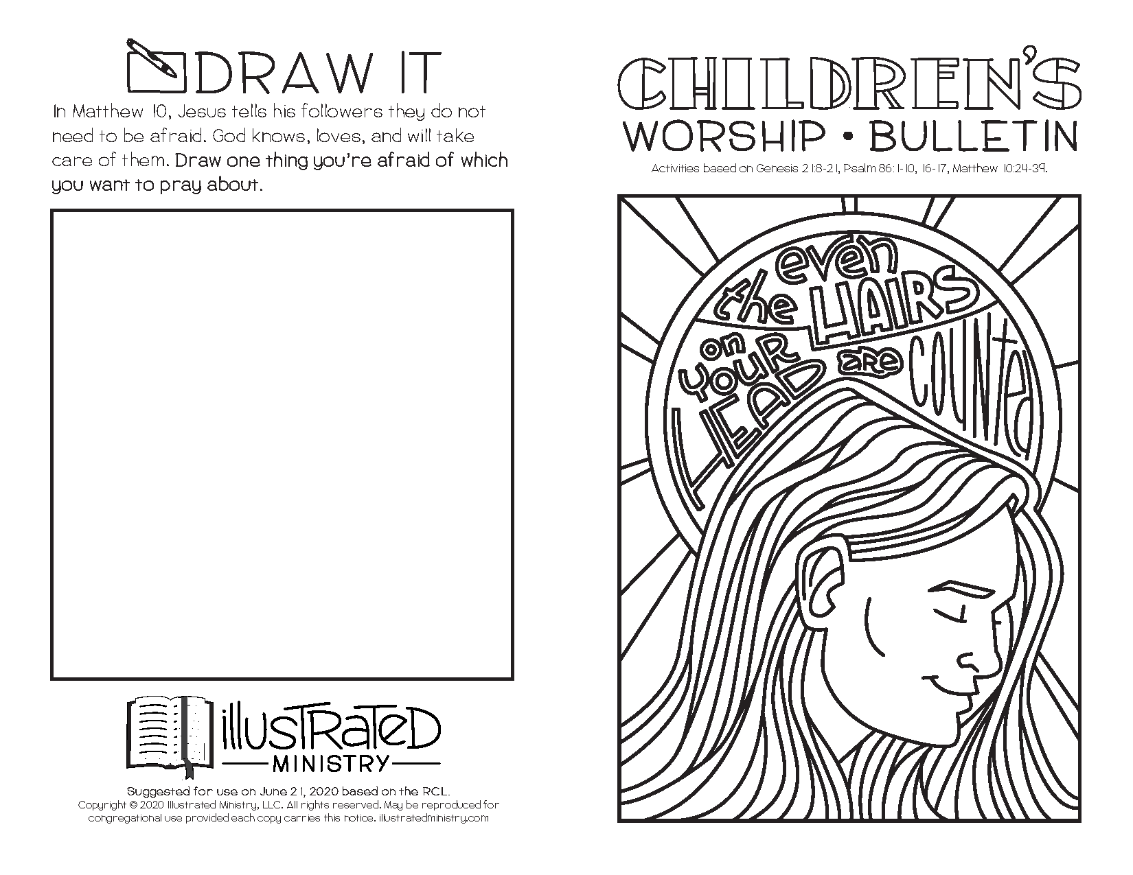 Illustrated Worship Children's Bulletins: Summer 2020
